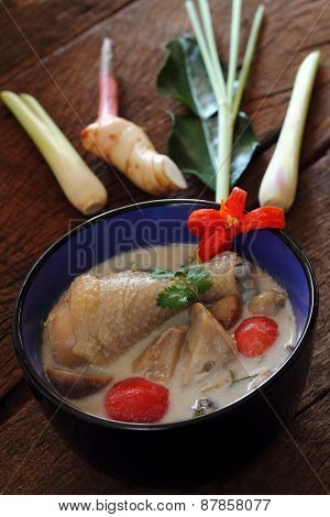 Chicken In Coconut Milk And Galangal.