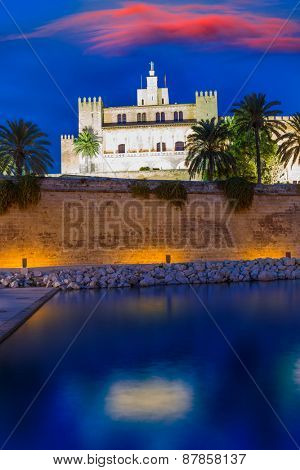 Almudaina Palace in Palma de Mallorca Majorca at Balearic islands of Spain