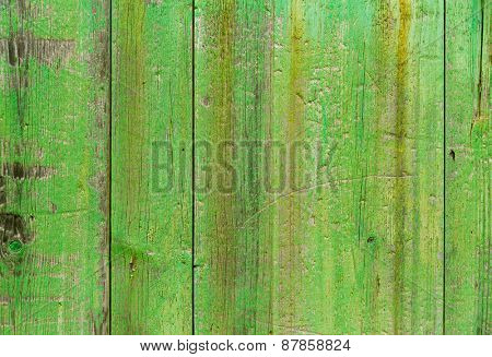 Alcudia Old Town aged green door wood texture Mallorca Balearic island of Spain