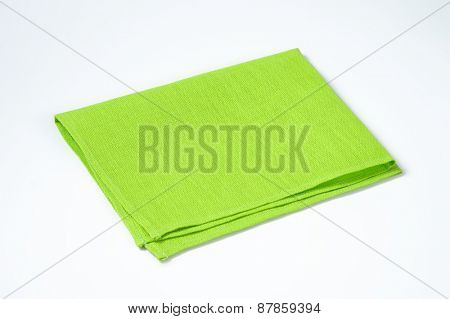 green place mat on white background