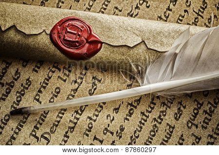 Old Latin Manuscript