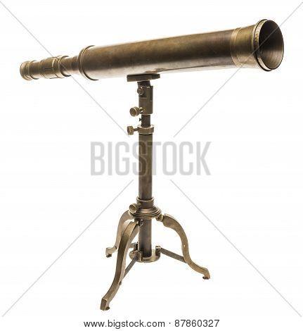 Old Brass Telescope