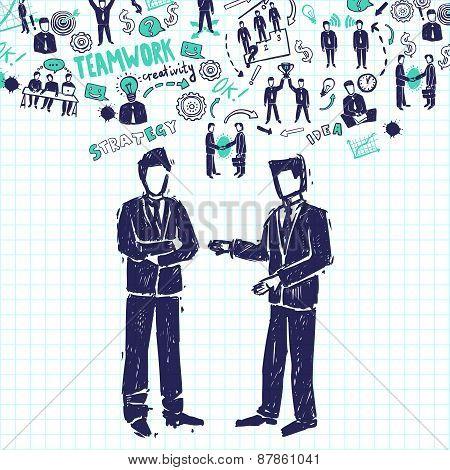 Meeting People Illustration