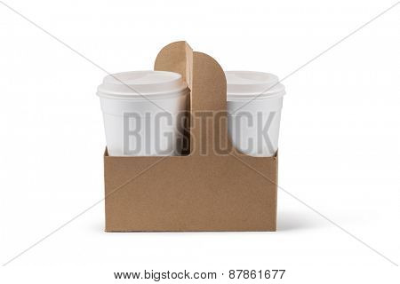 paper cup isolated on white background