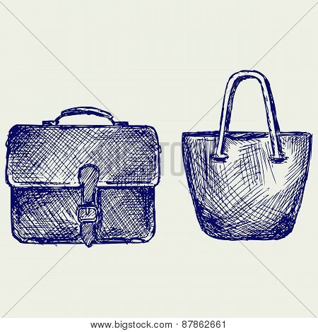 Bags. Doodle style