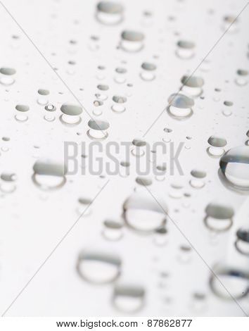 Water Droplets On Cd