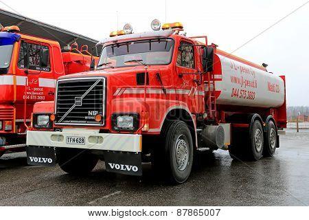 Red Volvo N12 Tank Truck