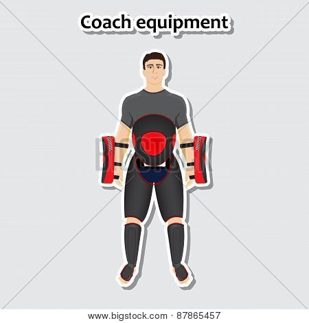 Man with coach equipment