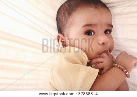 Four-month old baby with Expression