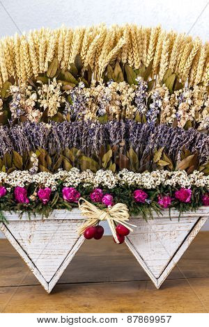 still life of lavenders and grain, Provence, France