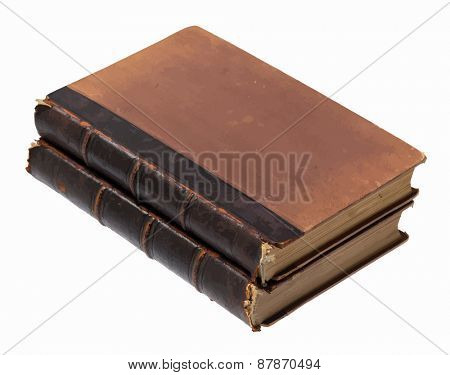 collected works, old books, vector