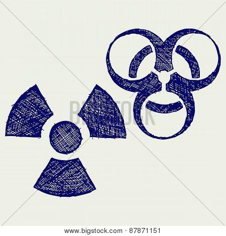Radioactive and biohazard
