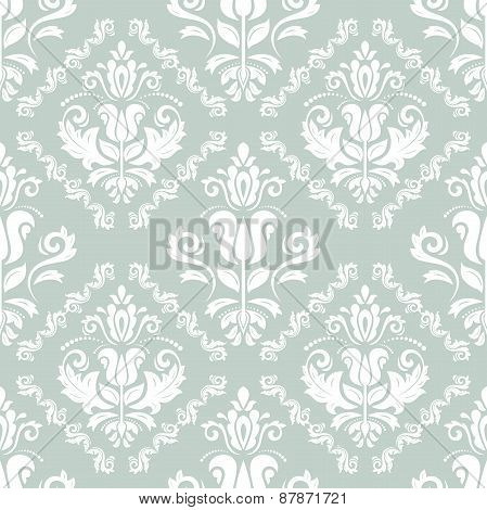 Pattern in the style of Baroque. Abstract  Background. Blue and White Colors