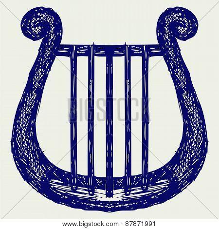 Illustration of lyre