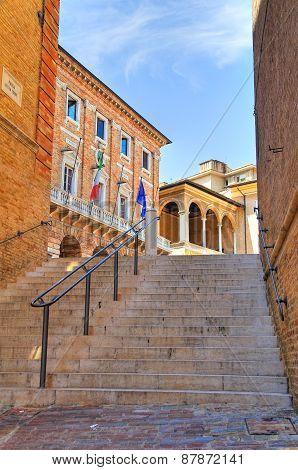 Alleyway. Macerata. Marche. Italy.