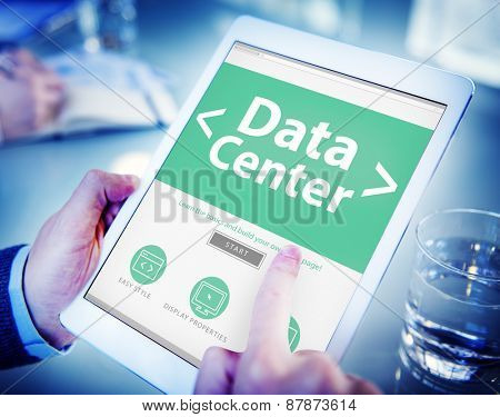 The Cloud Data Center Technology Online Internet Concept