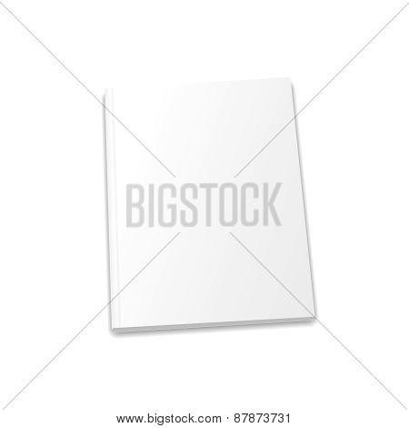 Blank magazine template on light background.  illustration.