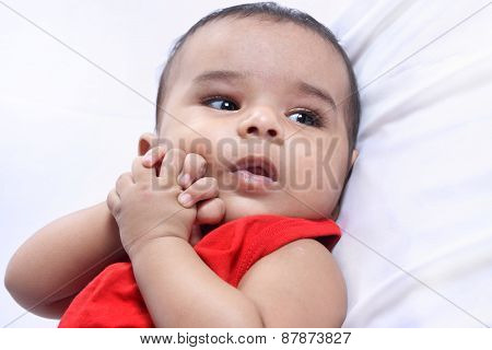 Portrait Of Indian Cute Baby