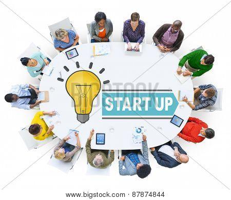 Start Up Ideas Brainstorming Teamwork Concept