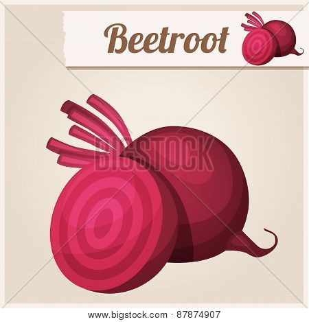 Beetroot. Detailed Vector Icon