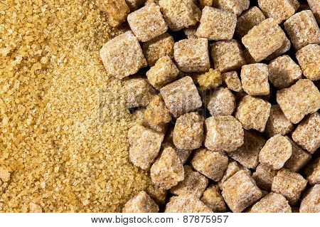 Natural Brown Sugar Cubes Background,  Texture