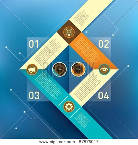 Business background with info graphic elements. Vector illustration.