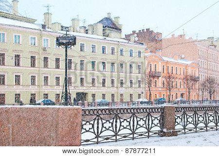Saint-Petersburg. Russia. The Moika River