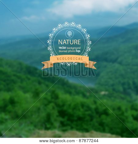 Landscape Blurred Photo Background