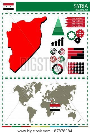 Vector Syria Illustration Country Nation National Culture Concept