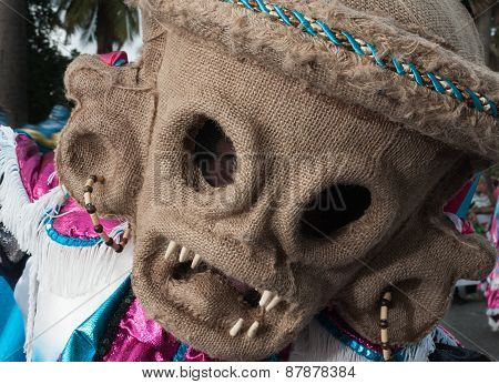 Photo Of Demon Mask In The Carnival Of Santo Domingo