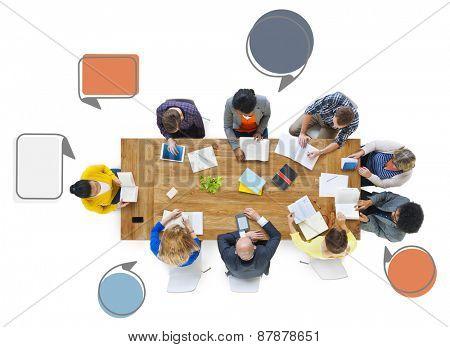 Diversity Busines People Teamwork Communication Meeting Concept
