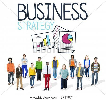 Business Strategy Marketing Data Teamwork Concept