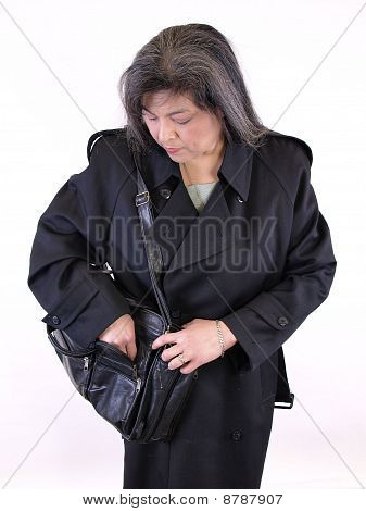 Mexican Female in Overcoat