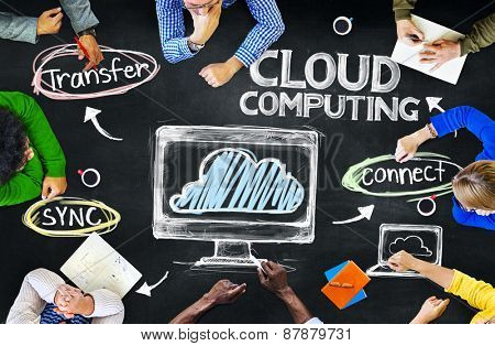 Group of People Brainstorming About Cloud Computing