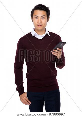 Asian business man with cellphone