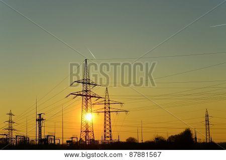 Sunset (pylons)