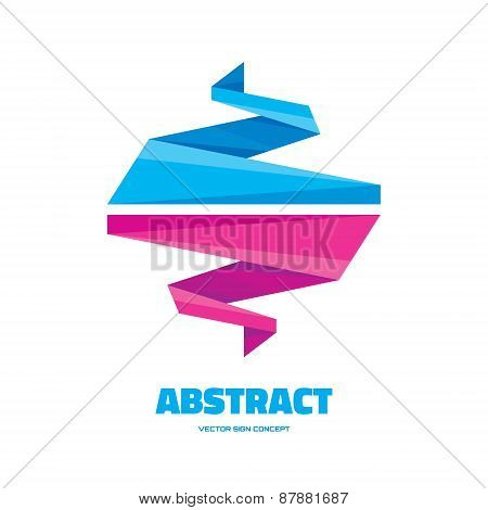 Abstract origami - vector logo concept illustration.
