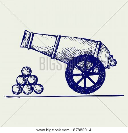 Cannon. Doodle style