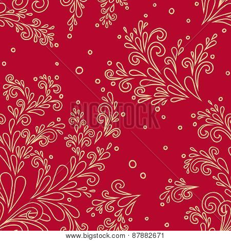 Seamless Pattern Drop-leaf