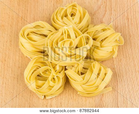 Six Pasta In Form Nest On Board