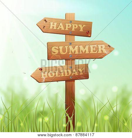 Wooden Sign Summer