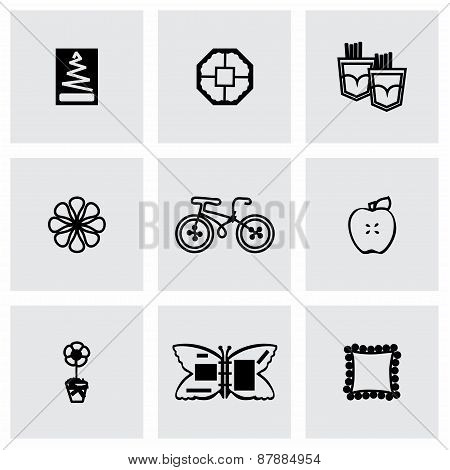 Vector Handmade icon set