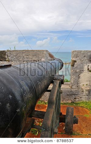 War cannon protecting an island.