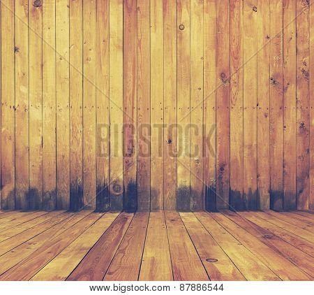 old grunge interior, wooden background, retro filtered, instagram style