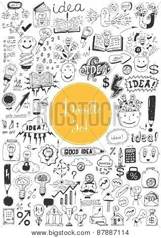 Big doodle set - Idea, business, education