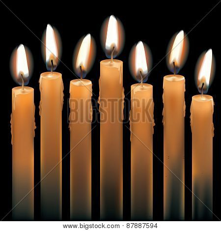 Seven Lighted Candles