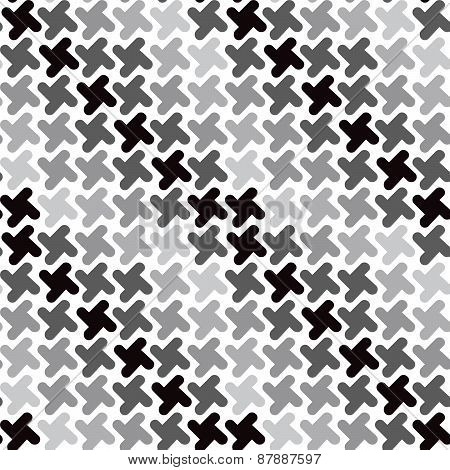 Retro Shapes Pattern in Grey
