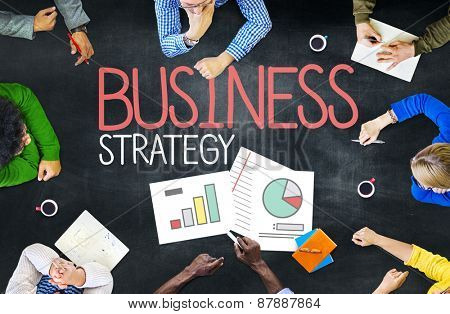 Business Strategy Analysis Teamwork Planning Concept