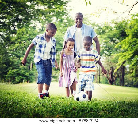African Family Happiness Holiday Vacation Activity Concept