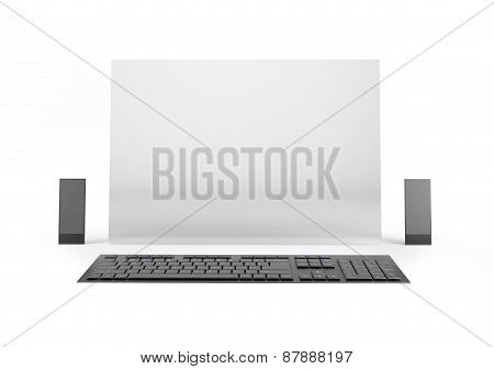 Computer Of The Future On White Background
